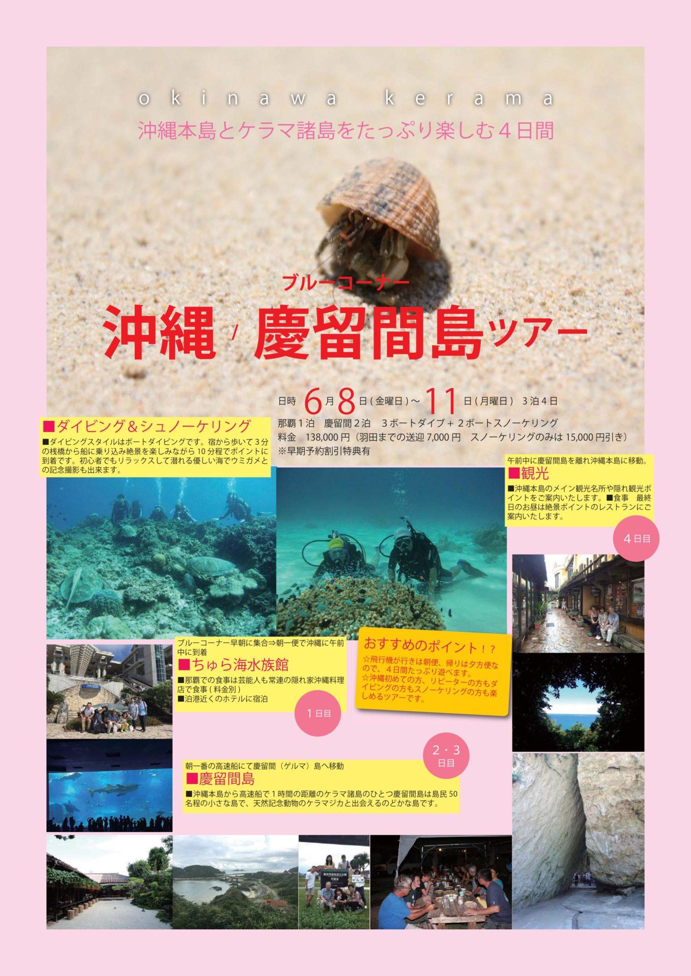 沖縄ツアー日程変更 お早めにお申し込み下さい。