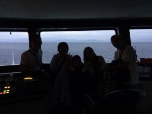 夕闇の操舵室